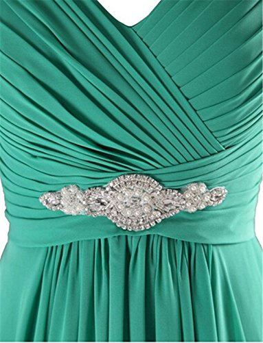 ThaliaDress Long Chiffon Sweetheart Evening Bridesmaid Dresses Prom Gowns T002LF Champagne US24W by ThaliaDress (Image #4)