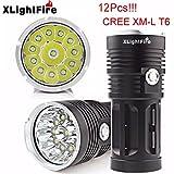 TOPUNDER XLightFire 30000LM 12 x CREE XM-L T6 LED Hunting Flashlight 4 x 18650 Lamp Torch