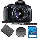 EOS 1500D/ T7 + EF S18-55 IS II Lens + 16GB Memory Card