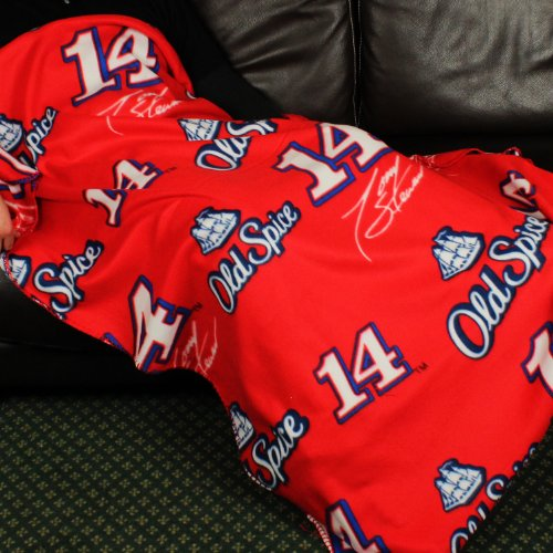 Nascar Tony Stewart # 14 Old Spice Fleece Throw Blanket by Northwest