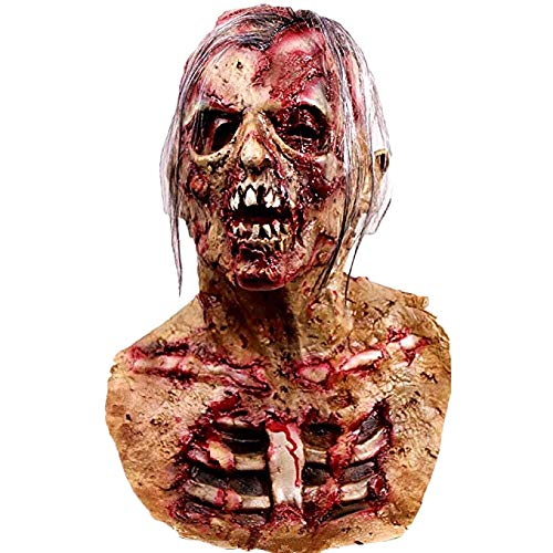 Waylike Scary Creepy Halloween Mask for Adults Cosplay Costume Party Latex -