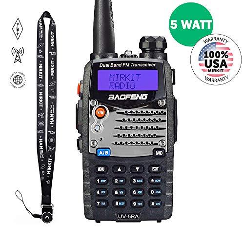 Baofeng Ham Radio UV-5RA 2019 5W 1800 mAh Li-ion Battery Mirkit Edition and Lanyard Mirkit Ham Radio Operator | Walkie Talkies Dual Band Ham Two Way Radios USA Warranty