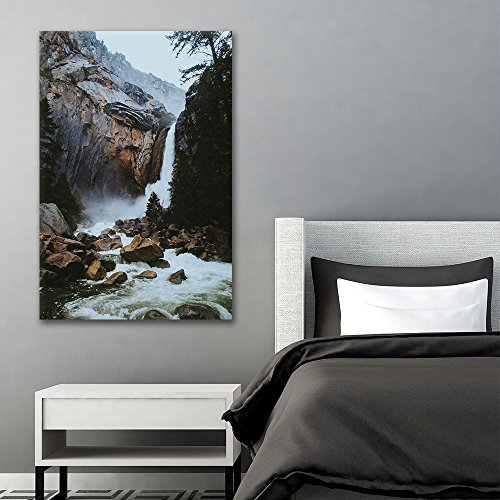 Landscape of Waterfall in the Rocky Mountains Gallery