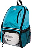 LISH Volleyball Backpack - Large School Sports Bag w/ Ball Compartment (Aqua)