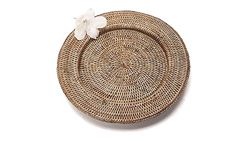 Artifacts Trading Company Rattan Charger, Solid Weave, 13'' L