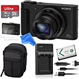 Sony DSCHX80/B High Zoom Point & Shoot ALL YOU NEED Digital Camera Bundle - Sony DSCHX80/B + 16GB SD + Screen Protectors + Camera Case + Battery Charger + Battery Replacement + DigitalAndMore Cloth