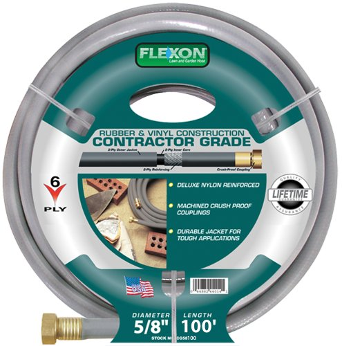 Flexon 5/8-Inch by 100-Foot Contractor Garden Hose CG58100