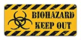 Print Crafted Biohazard: Keep Out - Vintage Metal Caution Sign | Bathroom, Bedroom, Office, Man Cave Door Decor