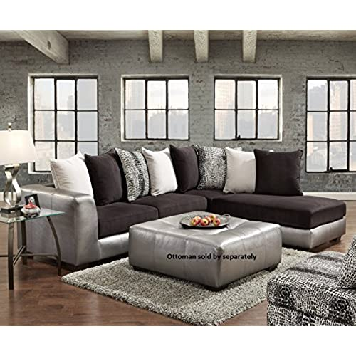 living room furniture amazon.  Black Sectional Living Room Furniture Amazon com
