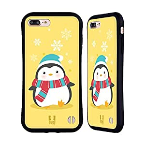 Head Case Designs Yellow Kawaii Christmas Penguin Hybrid Case for Apple iPhone 5 / 5s / SE