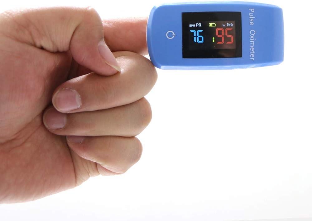 TBYGG Oxímetro de Pulso Pulsioximetro de Dedo con función Bluetooth Smart Medición de la saturación de oxígeno con Almacenamiento de Datos y alarmas,Pantalla LED,Peso 100g
