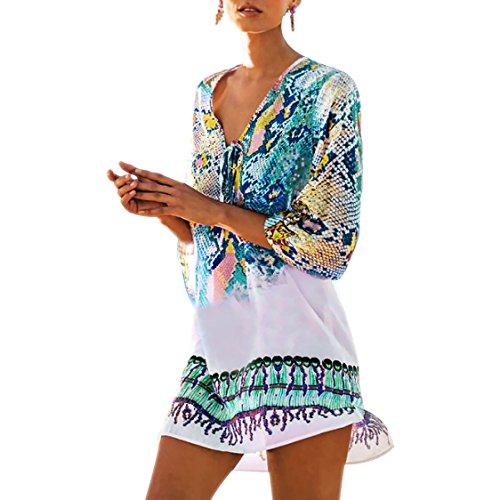 Fasker Womens Bathing Suit Swimwear Beach Cover up Bikini Coverups Swimsuit Shirt...