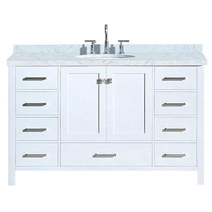 Dkb 55 Inch Beckford Series Single Sink Bathroom Vanity Set In