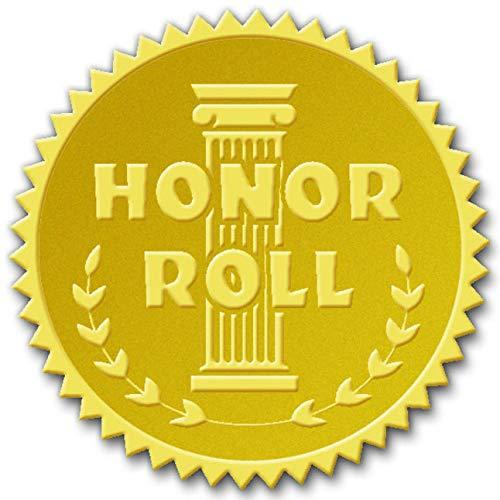 Hammond /& Stephens VA370 Honor Roll Gold Foil Embossed Seal 1-13//16 Size Pack of 54