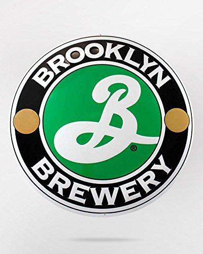 - Brooklyn Brewery Embossed Metal Tacker 15 x 15 Inches (Beer Sign)