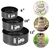 Springform Pan Set Cake Mold Set, Nonstick Leakproof 3pcs (9''/10''/11'') Cake Pan Bakeware Cheesecake for Party, Home Gathering, Kitchen, Feast and Holidays