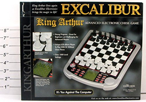 - Excalibur King Arthur Advanced Electronic Chess Game
