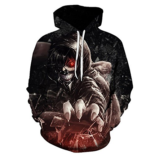 Unisexe Sweatshirt Tokyo Hod132 Feiran Sportswear Imprimé Ghoul Pull Hip Hop 3d q7FxzfwaFR