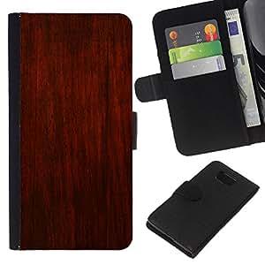 KLONGSHOP // Tirón de la caja Cartera de cuero con ranuras para tarjetas - Brown rústico rojo Diseño interiores Paredes - Samsung ALPHA G850 //