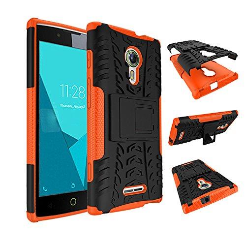 Para Alcatel One Touch Flash 2 (5 pulgadas) Cáscara Armadura Combo ZeWoo® Carcasa y Funda de Silicona - HH003 / Rodadura antideslizante (blanco) HH007
