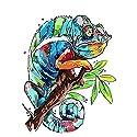 LoveTheFamily カメレオン旅行 数字油絵 数字キット塗り絵 手塗り DIY絵 デジタル油絵 40x50cm 手芸 画材 手工芸 キット 芸術 工芸 DIY 手作り 装飾品