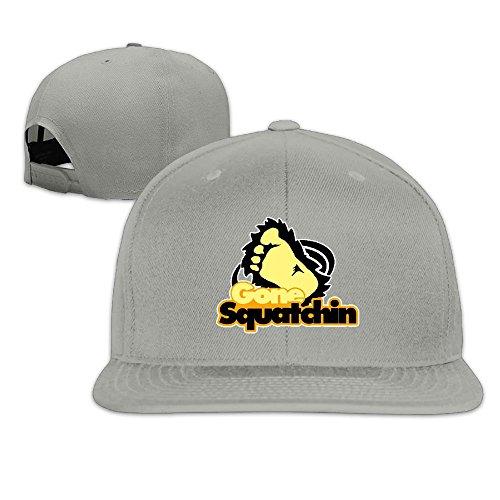 LI DE WEI Gone Squatchin Bigfoot Unisex Outdoor Adjustable Sandwich Peaked Hat Baseball Cap/Hat (Halloween Lights Gone Wild)