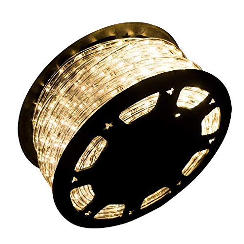 Ainfox LED Rope Light, 150Ft 1620 LEDs Indoor Outdoor Waterproof LED Strip Lights Decorative Lighting (Warm White) (Lighting Outdoor Rope)