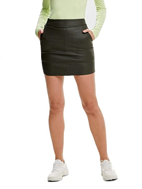 Only Onlticket Faux Leather Skirt Otw Noos Gonna Donna