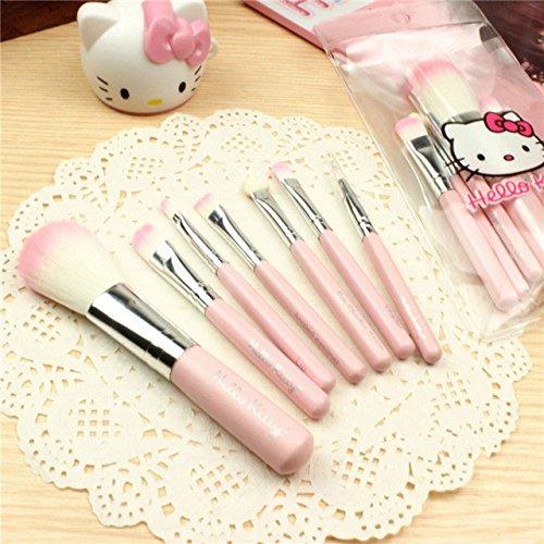 New 7 Pcs Mini Makeup brush Set Pink Cosmetics Kit de pinceis de maquiagem Make up Tool Hair Foundation Brushes Kit foundation brush;real techniques brushes;makeup brushes