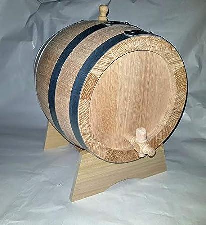 Produzione di birra e vino artigianali Botte Botti rovere da 5 litri lt spessore doghe 2.3 cm RUBINETTO ottone