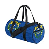 Distressed Nevada State Flag Travel Duffel Shoulder Bag ,Sports Gym Fitness Bags