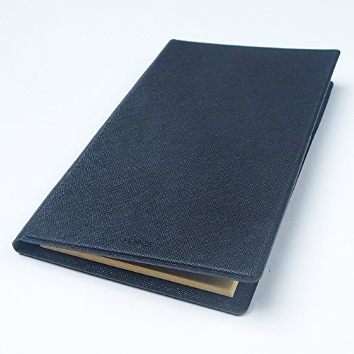 2 Pockets Slim Memo Padfolio F1 with AHZOA Pencil, Including Legal Writing Pad, Handmade 4.33 X 7.28 inch Folder Clipboard Writing Pad (Black) by AHZOA (Image #7)