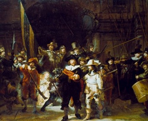 Posterazzi The Night Watch 1642 Rembrandt Harmensz Van Rijn (1606-1669/Dutch) Oil on Canvas Rijksmuseum Amsterdam Poster Print, (18 x 24)