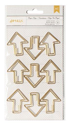 Top Arrow (American Crafts 9 Piece Designer Desktop Arrow Jumbo Paper Clips)