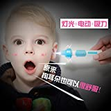 LED Ear Cleaner,LED Electric Ear Cleaner Ear Pickup Automatic Wax Removal Kit,LED Reusable Ear Clear Silicone Ear Wax