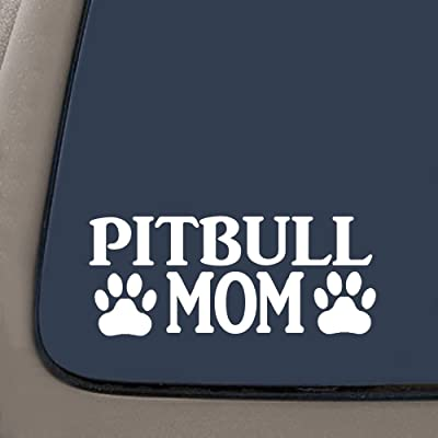 "CMI NI269 Pitbull Mom Decal | Premium Quality Vinyl Decal | Pit Bull Mom Decal | American Bully | 7.4"" X 3.1"": Automotive"