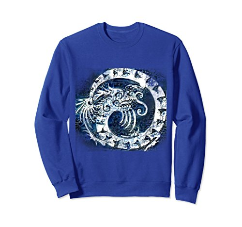 Unisex Coiled blue dragon sweatshirt Small Royal Blue (Dragon Coiled)