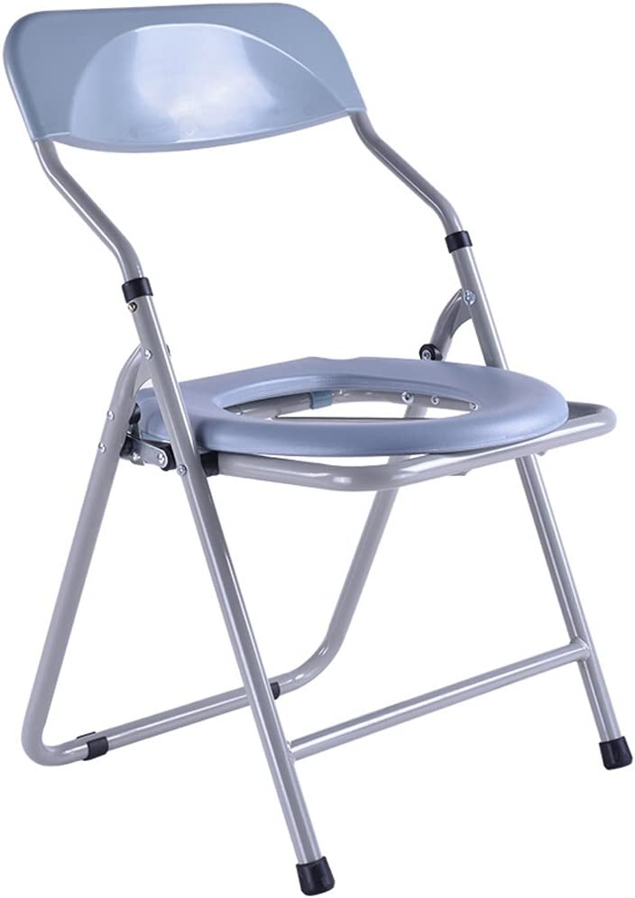 Chair Bath Chair Toilet seat Collapsible Pregnant Women Old Man Potty Chair Sturdy Waterproof Stainless Steel 51CyFRXYE0LSL1024_