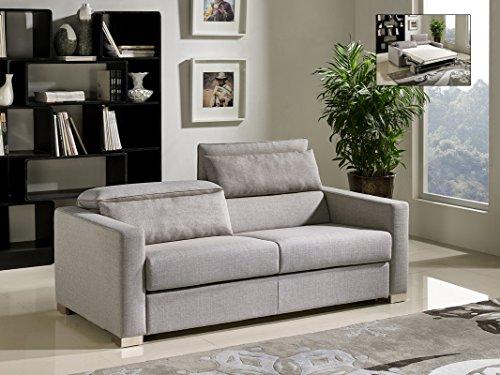 Limari Home Destin Collection Modern Fabric Upholstered Living Room Sofa Bed, Grey