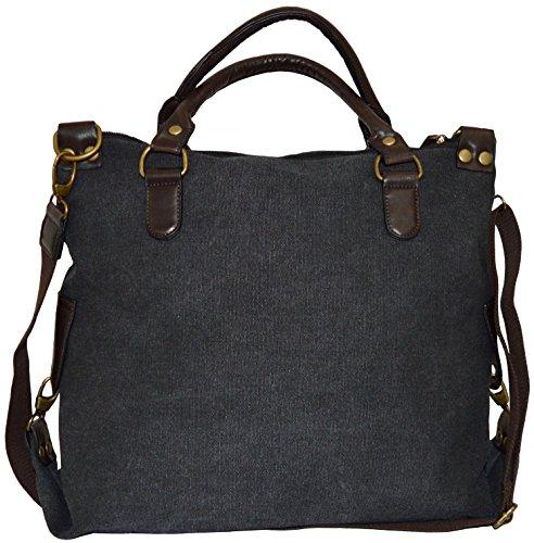 la bolsa Canvas Bolso Bandolera Bolsa Bag lona Print sintética Estrella de de piel Stars compra negro Hombro AgwqE