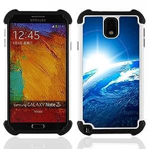 BullDog Case - FOR/Samsung Galaxy Note3 N9000 N9008V N9009 / - / Space Planet Galaxy Stars 54 /- H??brido Heavy Duty caja del tel??fono protector din??mico - silicona suave