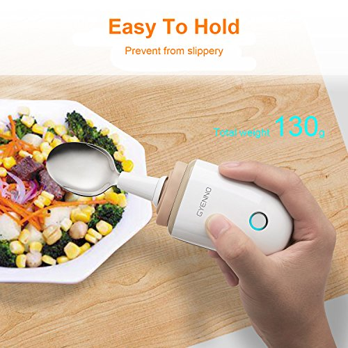 GYENNO Parkinson Spoon For Hand Tremor,Smart Anti-Tremble Steady Spoon Comfortable Safe Integrates Intelligent Control Modules For People with Hand Tremor by LONPOO (Image #5)