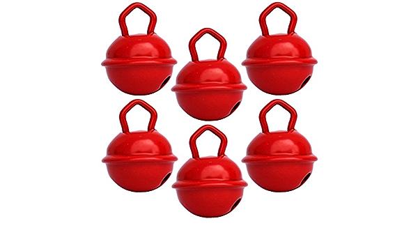 Cascabeles Rojos Pequeños (15mm x6 Campanillas de Bronce ...