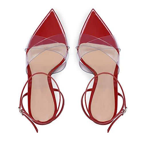 Tacon Con Para Red Hn Boda Fiesta Zapatos De Altos Alto Negro Tacones Sandalias Mujer Shoes Ra0qwYf