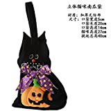 HOMEE Halloween Decorating Props Toys Disguised As Accessories Cellular Pumpkin Pouch Gift Bags Candy Pocket Cloth Bag, Hats Pumpkin Bag,Kitten alike bag