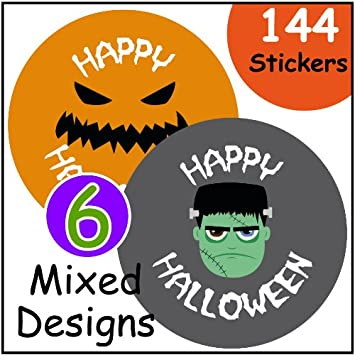 144 Halloween themed 30mm stickers