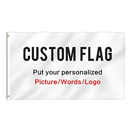 KafePross Custom Outdoor Flag 3X5 FT Use Your Personalized Picture or  Photos Text or Logo to Customized Gifts Print One Side