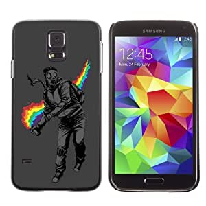 Designer Depo Hard Protection Case for Samsung Galaxy S5 / Rainbow Rebel Cool
