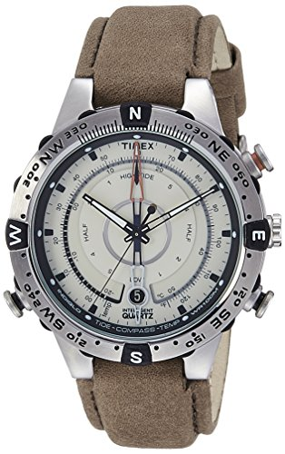(Timex Men's Intelligent Quartz Compass Chronograph Off- Dial Watch)