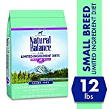 Natural Balance L.I.D. Limited Ingredient Diets Dry Dog Food for Small Breeds, Chicken & Sweet Potato Formula, 12 Pounds, Grain Free